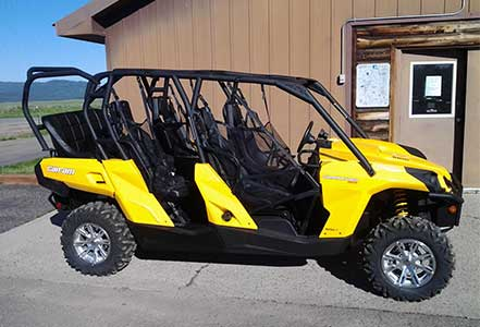 Rent a Can-Am Commander Max at Island Park Adventures, ID