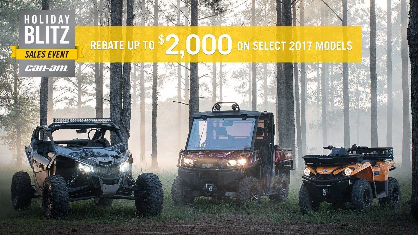 CAN-AM HOLIDAY BLITZ SALES EVENT- DS Rebates